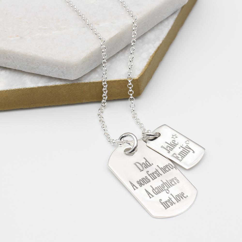 c4365af13cd95 Men's Sterling Silver Double Dog Tag Necklace | Hurleyburley