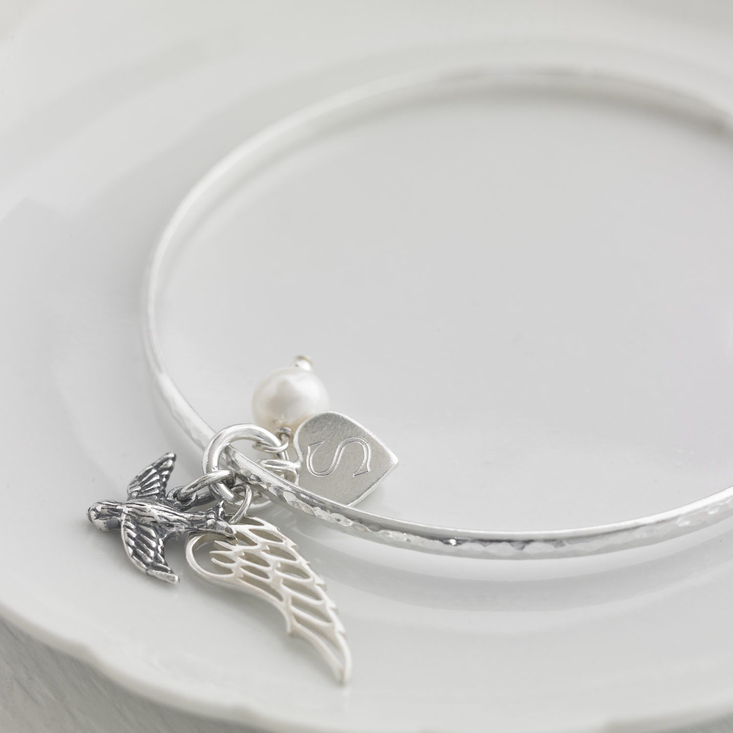 HBB02 Personalised Bluebird Bangle
