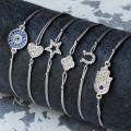 HBAB08Silver Symbolic Friendship Bracelet