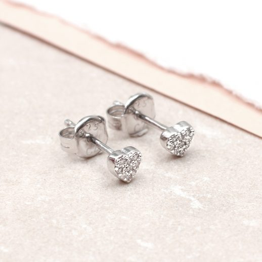 Crystal earrings heart