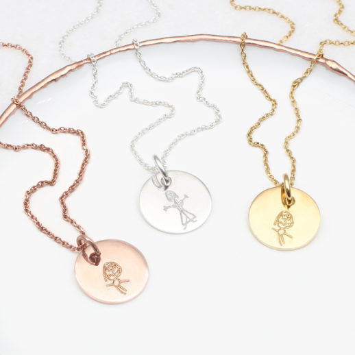 drawing-mummy-disc-necklace-charm