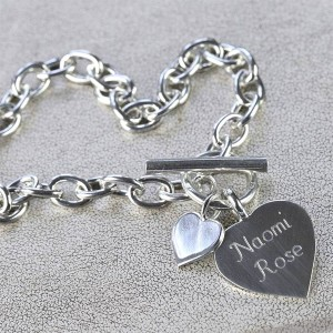 98a5351c566 Personalised Solid Sterling Silver Heart Necklace £115