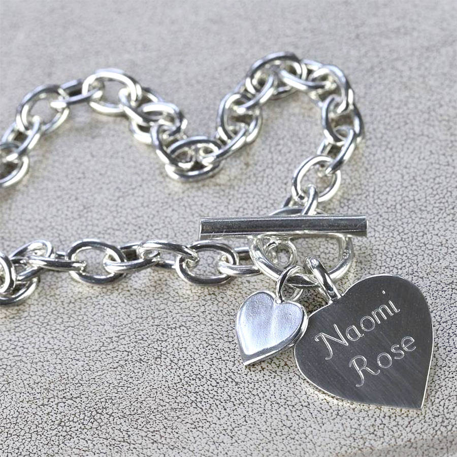 original_personalised_silver_heart_charm_necklace