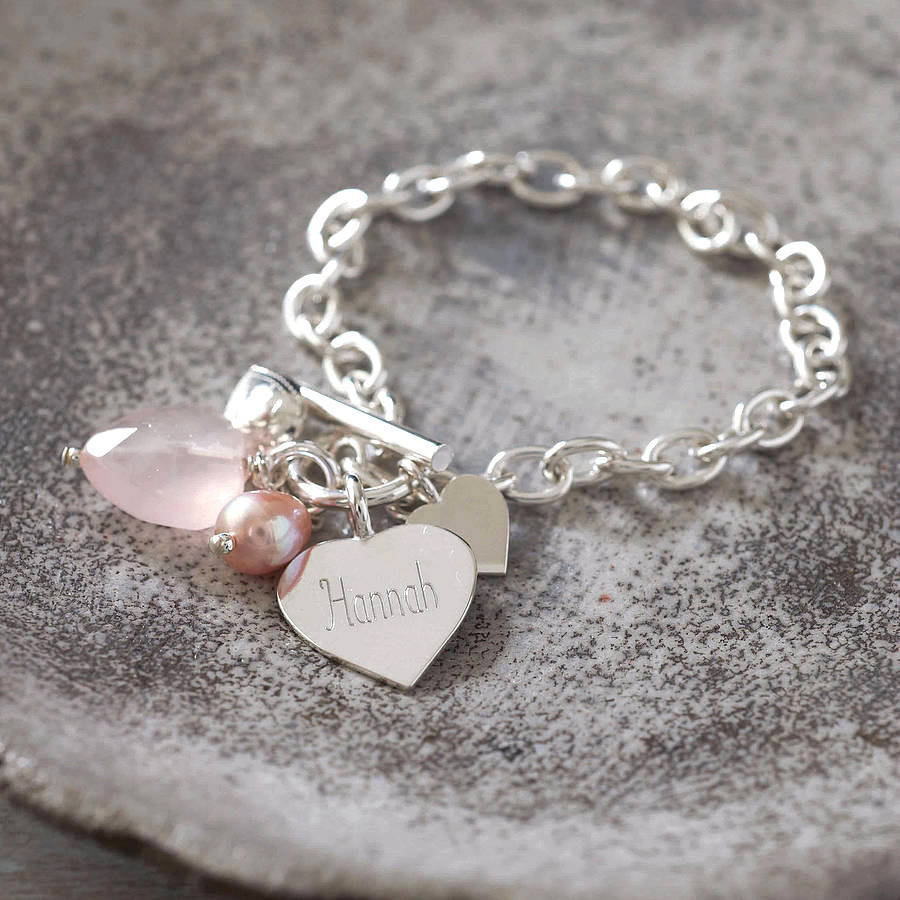 original_rose_quartz_silver_heart_bracelet