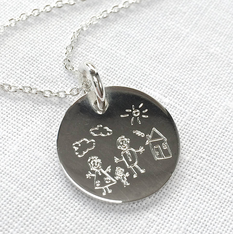 original_your-child-s-drawing-on-silver-disc-necklace
