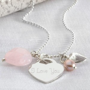 39e8ac13e35 Personalised Sterling Silver Vintage Rose Necklace £39