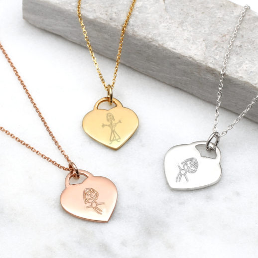 drawing-mummy-heart-charm-necklace