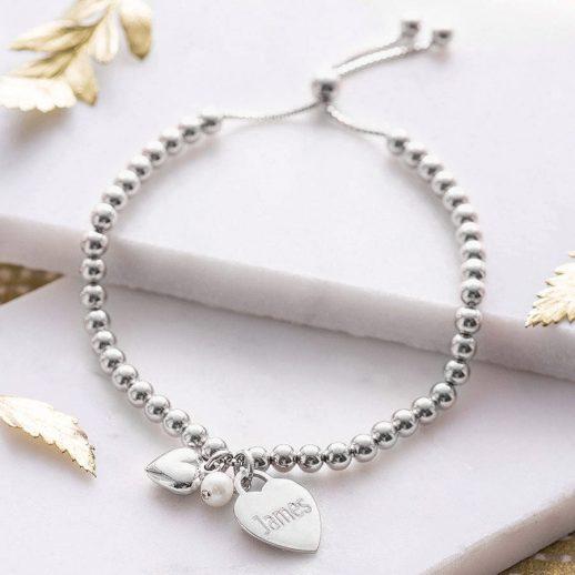 ball bracelet silver