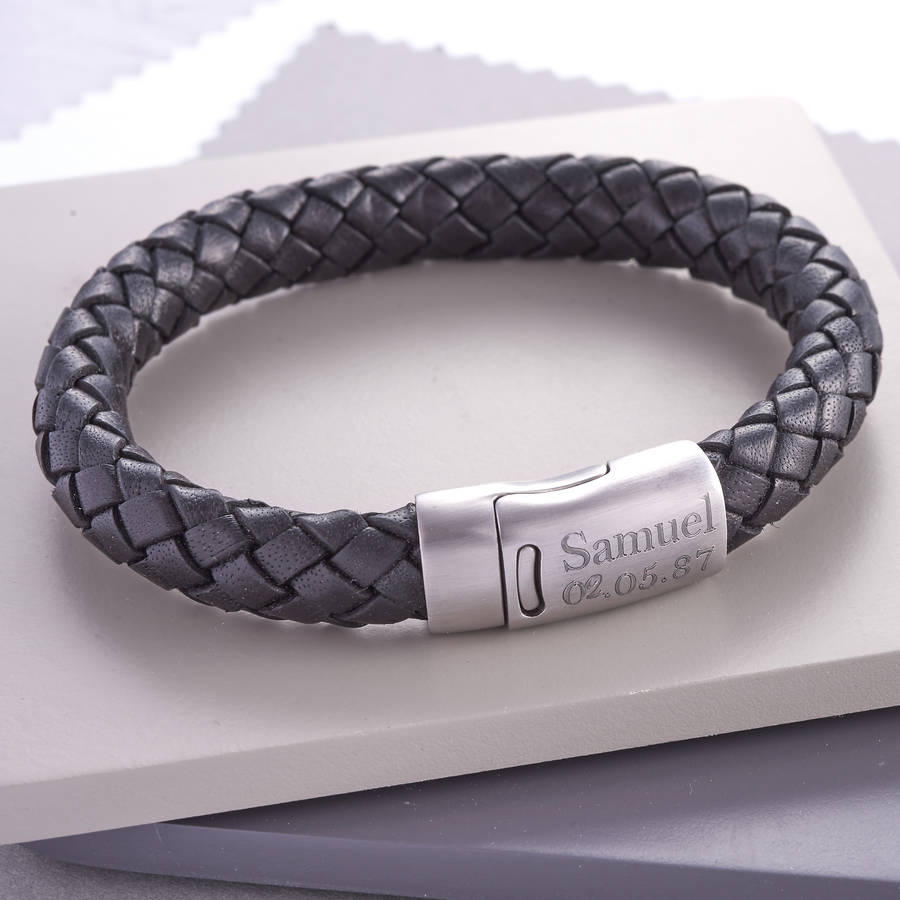 original_men-s-personalised-leather-and-steel-clasp-bracelet
