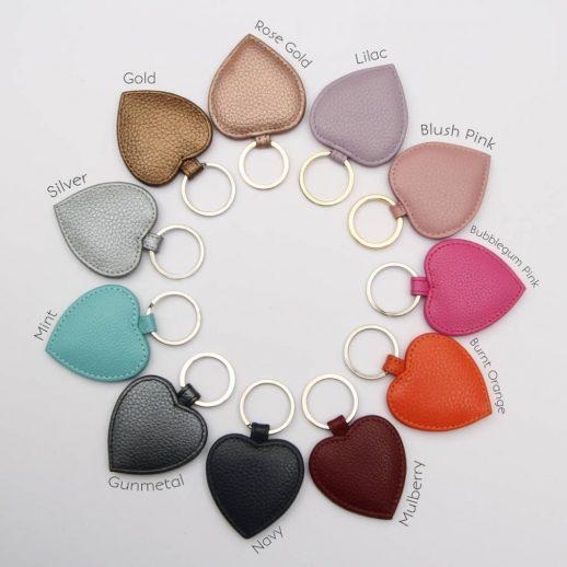Leather Heart Keyrings