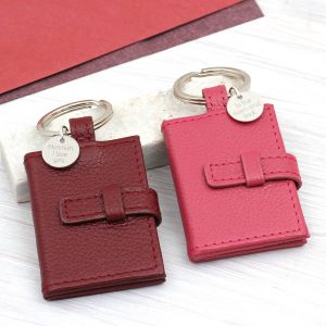 Leather Photo book keyring