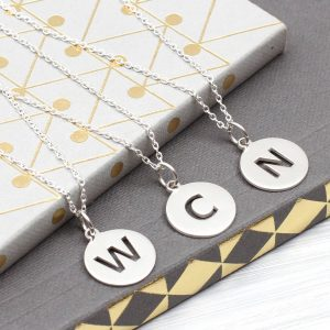 aba2cb1578b Sterling Silver Cut Out Initial Necklace £17