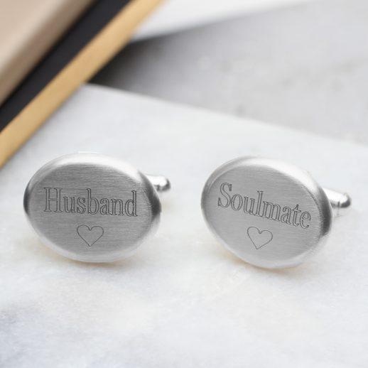 cufflink-silver-message