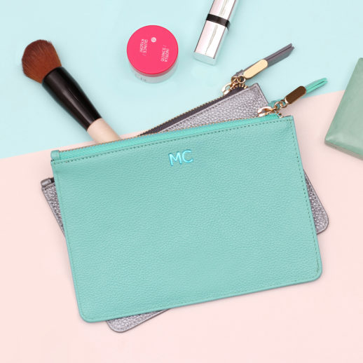 personalised-leather-make-up-bag-turquoise