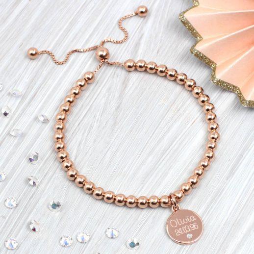 original_rose-gold-and-diamond-personalised-ball-bracelet