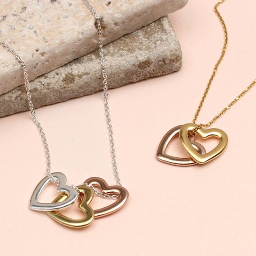 Precious metal personalised heart necklace