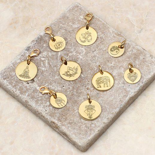 Boho gold charms