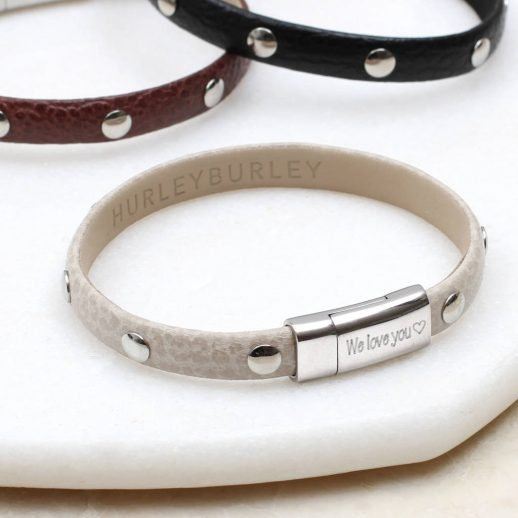 original_personalised-textured-leather-stud-bracelet