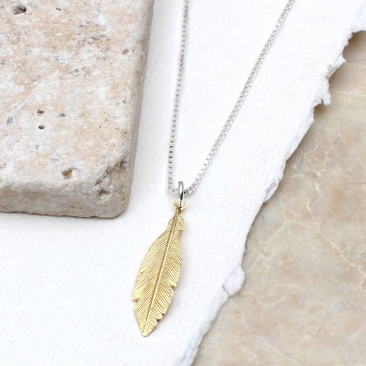 original_sterling-silver-and-gold-personalised-feather-necklace