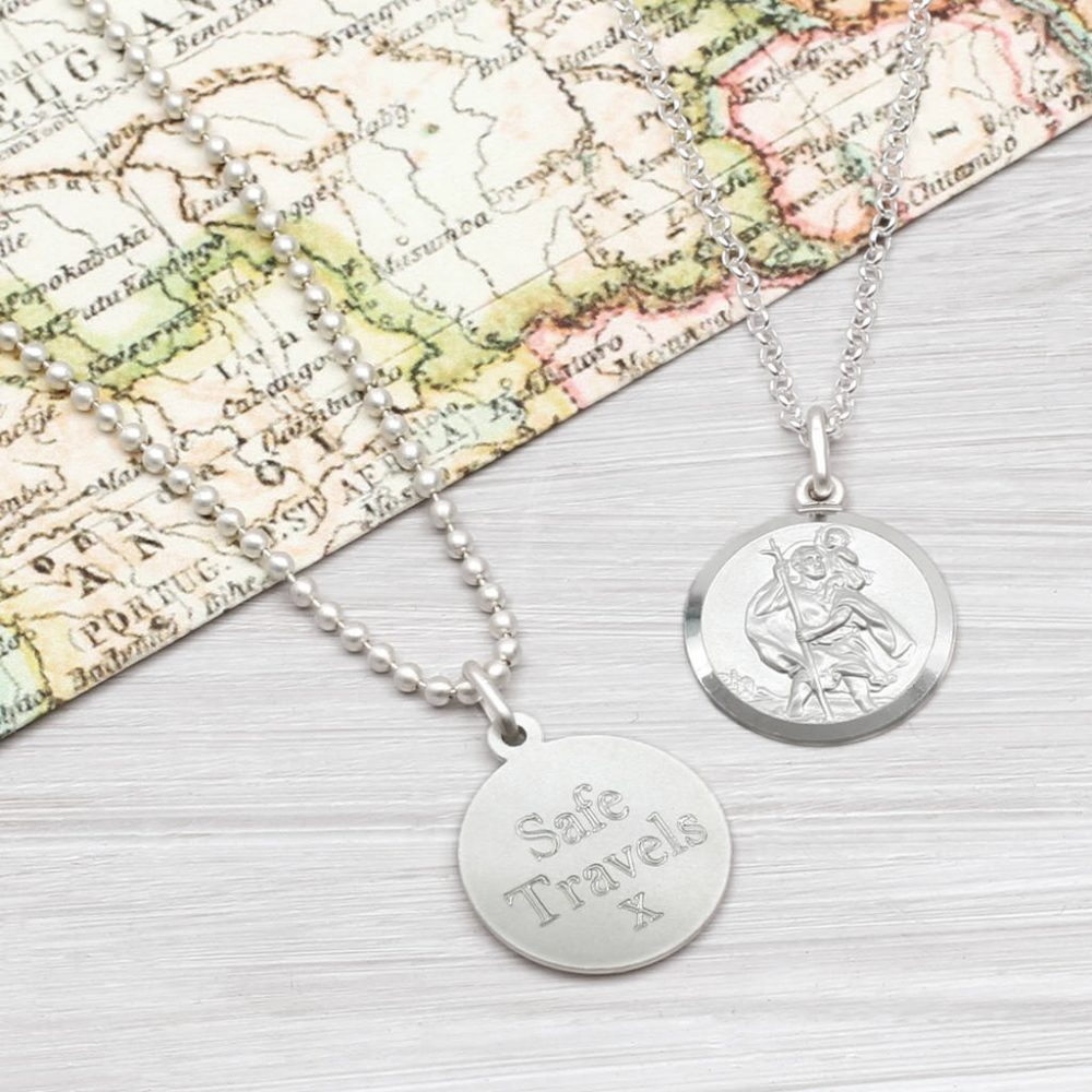0adbd02410a6b Sterling Silver St Christopher Personalised Necklace | Hurleyburley
