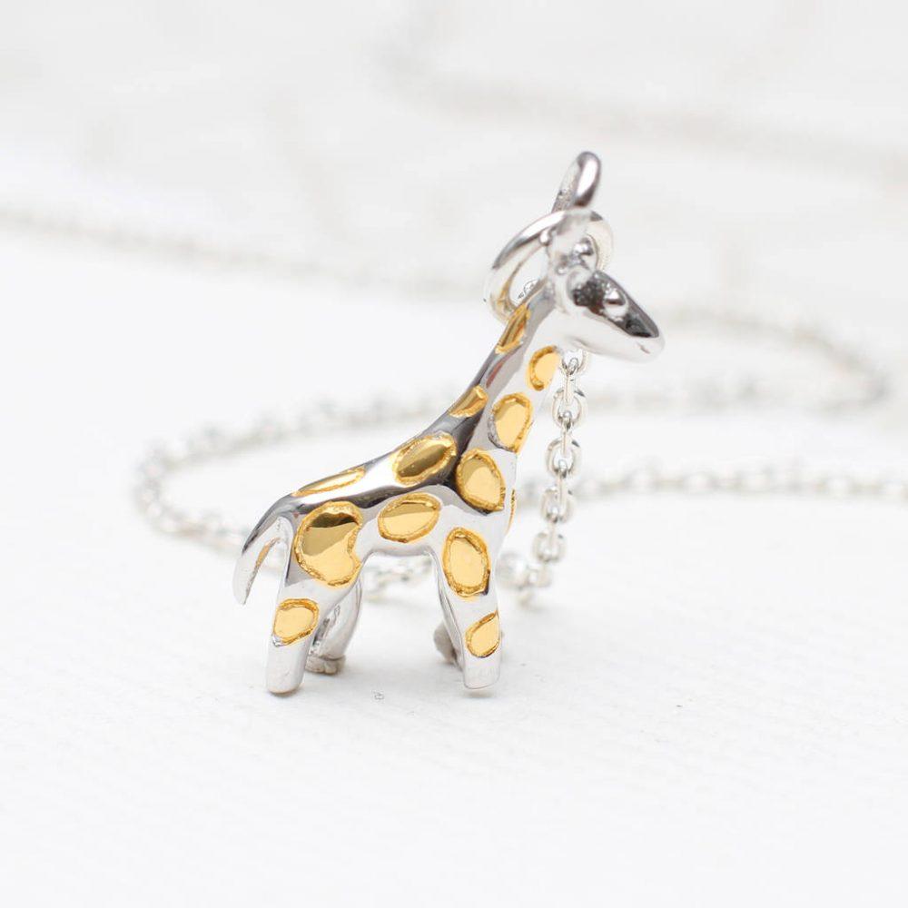 Personalised Sterling Silver Giraffe Necklace | Hurleyburley
