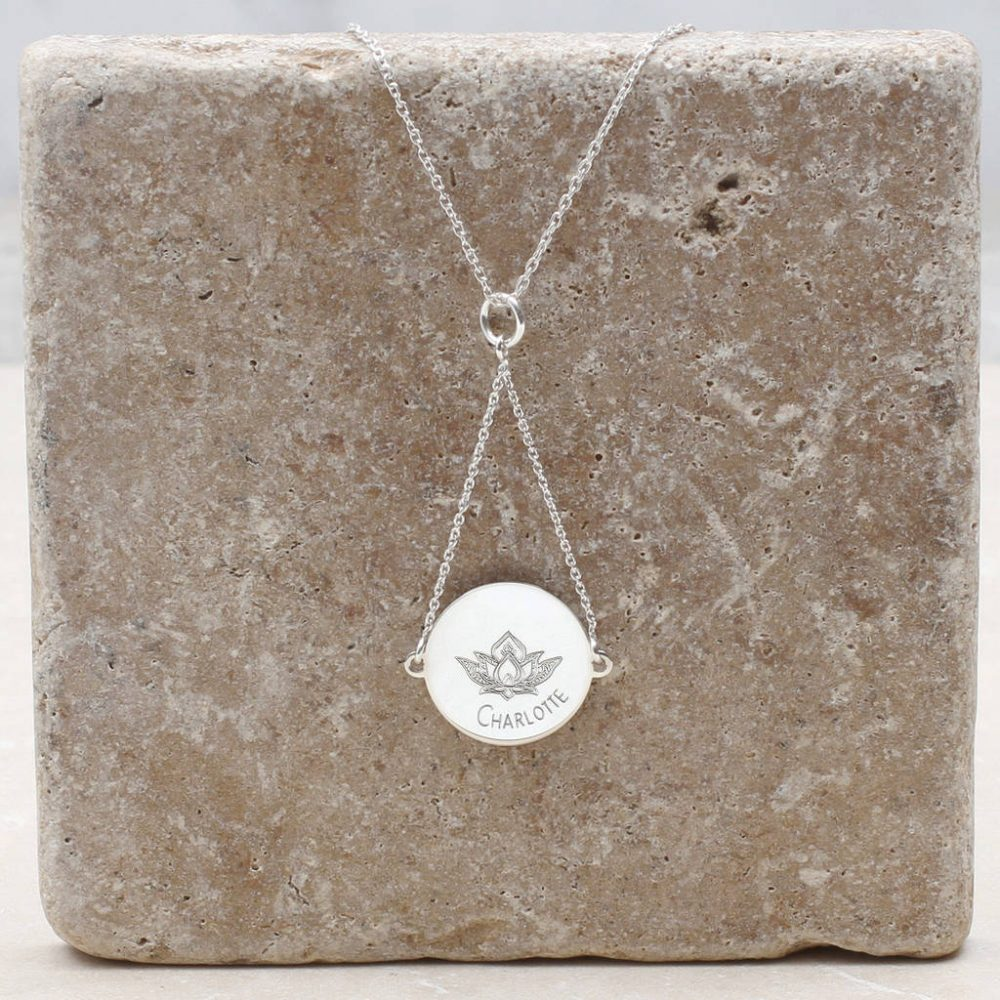 Personalised Sterling Silver Suspended Symbol Necklace