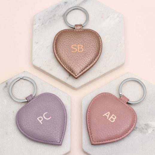 LEather initial hearts 1