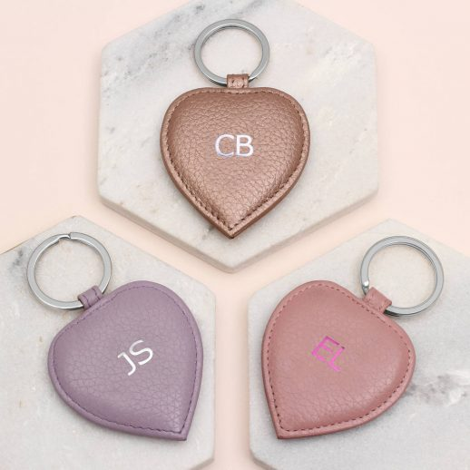 Leather initial hearts 2