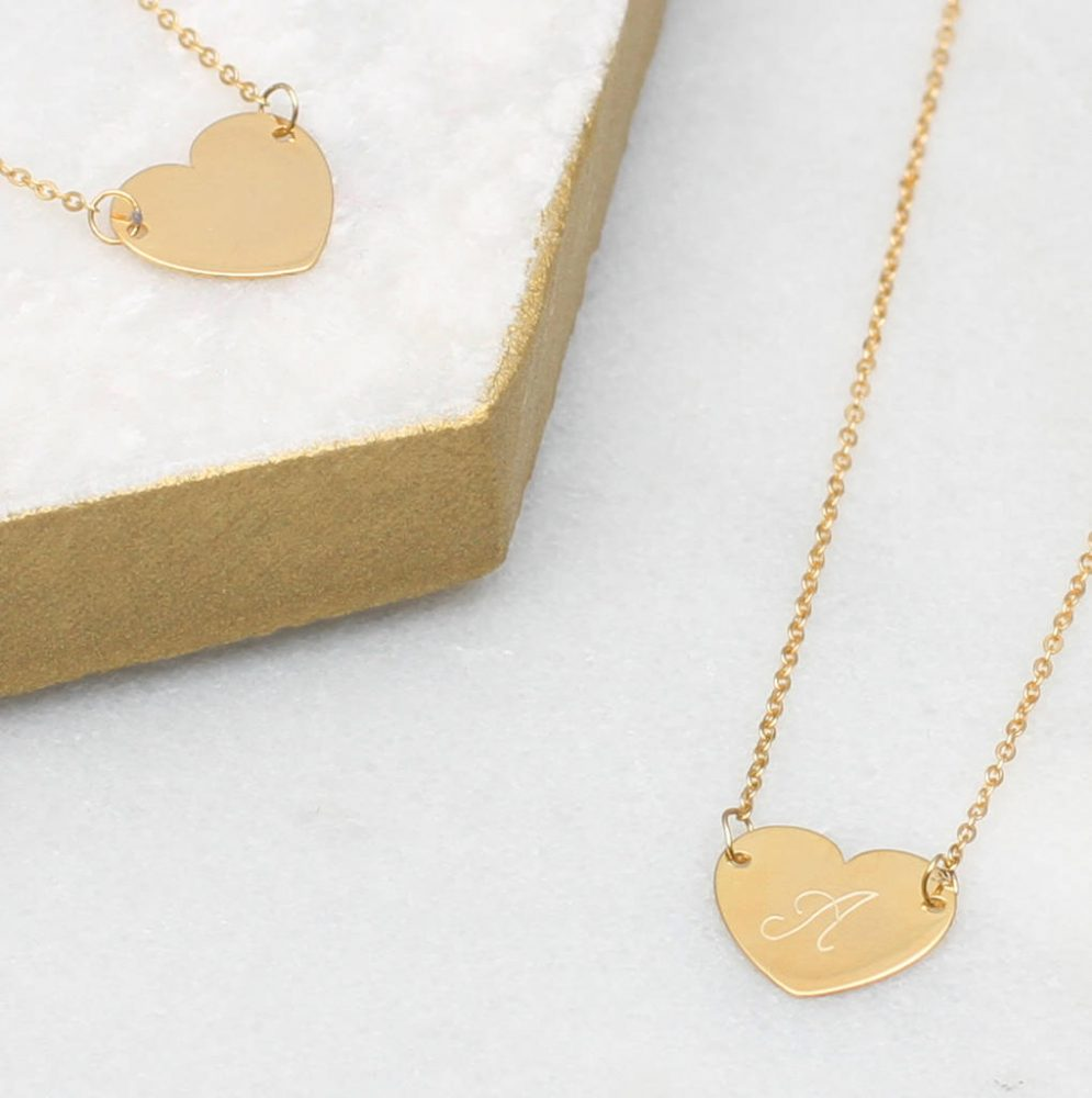 c04710826a4 Personalised 9ct Gold Initial Heart Necklace | Hurleyburley