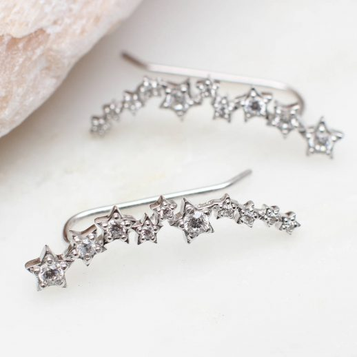 Sterling silver constellation earrings