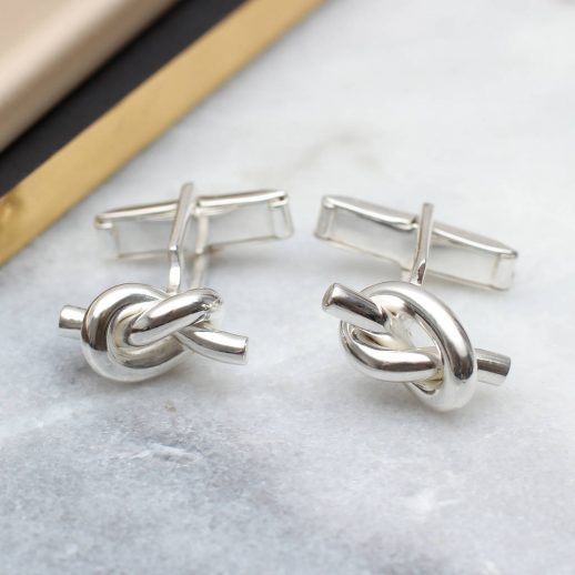 original_solid-sterling-silver-love-knot-cufflinks