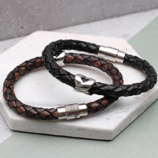 original_men-s-personalised-clasp-infinity-bead-bracelet