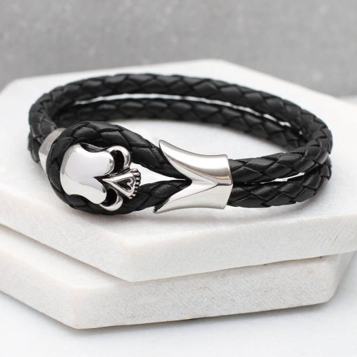 original_men-s-personalised-leather-and-rhodium-skull-bracelet