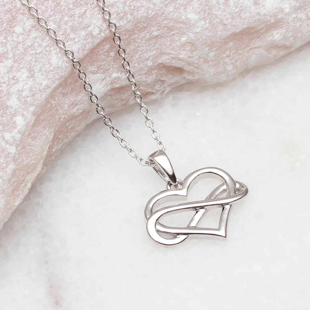 7802723690dc6 Personalised Sterling Silver Infinity Heart Necklace | Hurleyburley