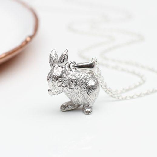 SilverBunnyNecklace