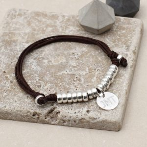 Mens personalised sterling silver bracelet