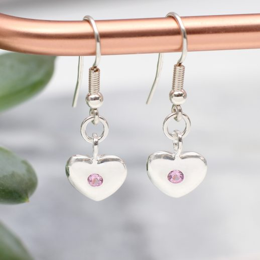 BirthstoneHeartDropEarrings