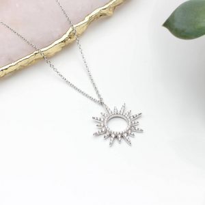 Personalised Silver Sun Necklace