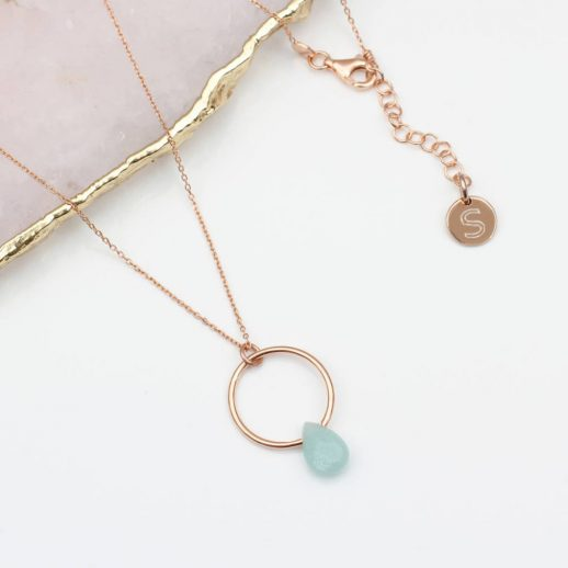 48R - Verdana - Stone drop necklace