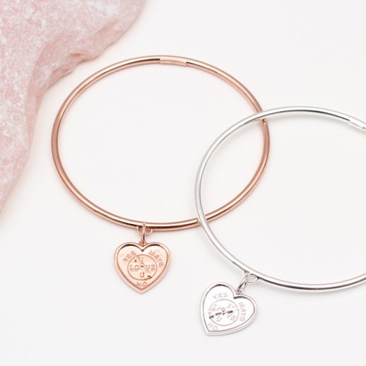 HeartSpinnerBangle
