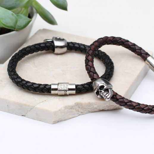 original_men-s-personalised-skull-bead-leather-bracelet