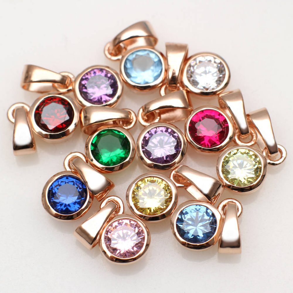 19b3c4750c87c 18 ct Rose Gold Vermeil And Swarovski Crystal Birthstone Charm ...