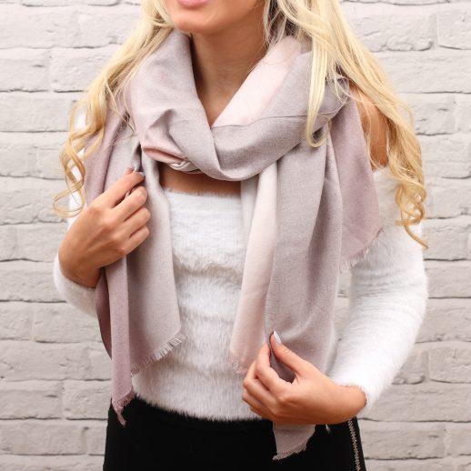 PinkOmbreSparkleScarf