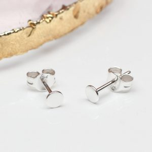 a2273ef5f Contemporary Sterling Silver or 18ct Gold Dot Stud Earrings £10