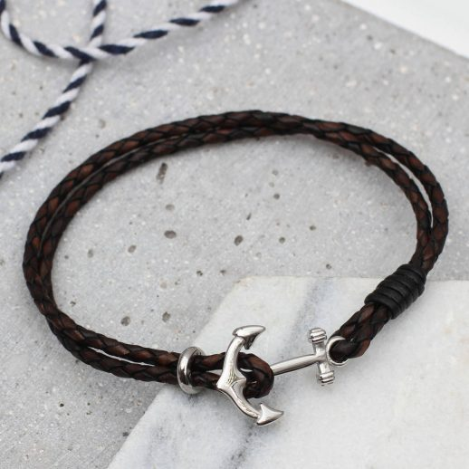 original_men-s-leather-and-rhodium-anchor-clasp-bracelet