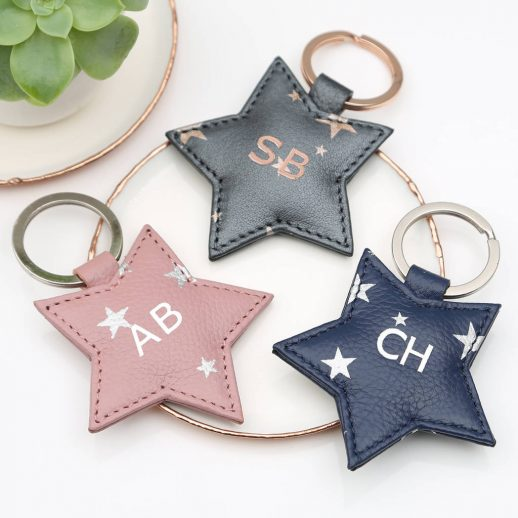 original_personalised-luxury-leather-star-embossed-keyring
