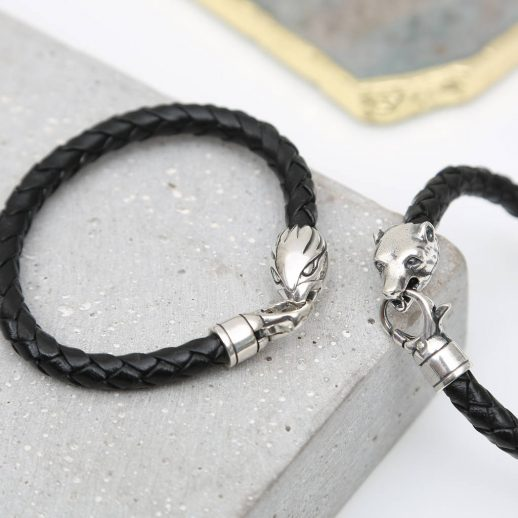 original_sterling-silver-and-leather-animal-clasp-bracelets