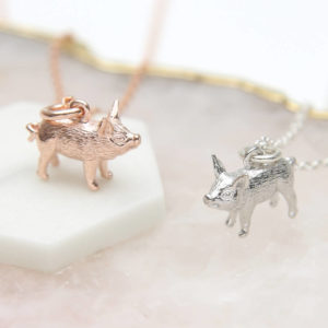 2a514b2f0 18ct Gold Or Sterling Silver Piglet Necklace £24