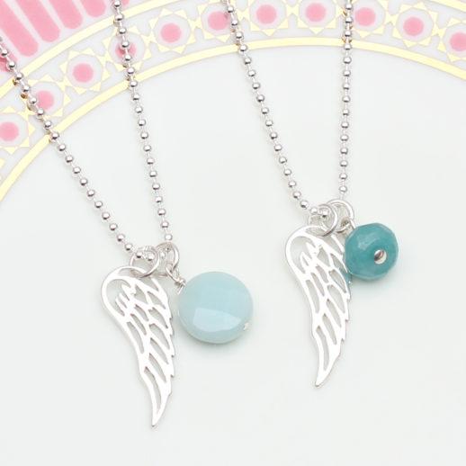 TurquoiseSmallAngelWingNecklaces