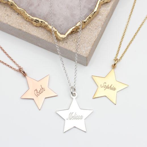 LargeStarSnellNameNecklaces
